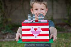 Life With Fingerprints: Easy Lego Valentine's box for boys
