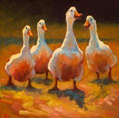 """""""Head Honcho"""" oil painting of ducks by artist Cheri Christensen"""