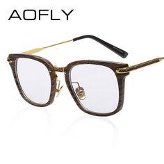 AOFLY Fashion Newest Style Frame Plain Eyeglass Frame Optics Clear Reading Glasses Trendy Goggles For Men Women Oculos Feminino