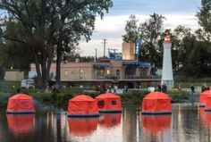 The Shoal Tents of Troy are the first of their kind. Imagine floating on the water all night long beneath the stars, letting the river lull you to sleep. Tent Camping, Campsite, Places To Travel, Places To See, Floating Raft, Local Activities, Island Park, Sleeping Under The Stars, Treasure Island