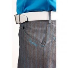 Stromberg Belas 2 Funky Mens Golf Trousers (34Wx33L, Silver/Teal)