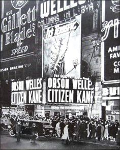 """On May 1, 1941, """"Citizen Kane,"""" directed and starring Orson Welles, premieres in New York City."""