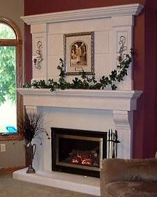 I like this non-stone fireplace. Elegant | Fireplace designs ...