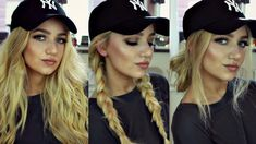 Ideas Hat Hairstyles Curls Baseball For 2019 Instagram Baddie, Work Hairstyles, Everyday Hairstyles, Trendy Hairstyles, Hairstyles With Hats, Beanie Hairstyles, Braided Hairstyles, Camping Hairstyles, Medium Hairstyles