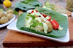 Sprouted Chickpea Falafel with Cashew Tsatziki Sauce
