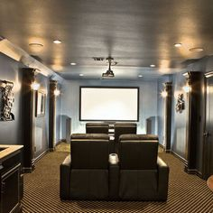 Colors-paint, etc. Media Room Navy Blue Design, Pictures, Remodel, Decor and Ideas - page 4