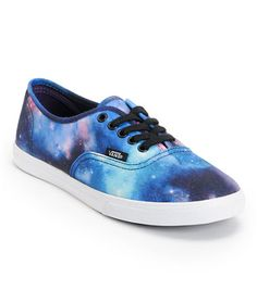 Vans Girls Authentic Lo Pro Galaxy Print Shoe at Zumiez