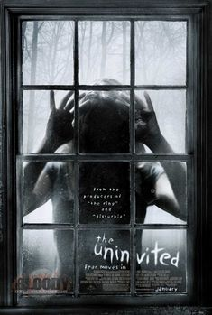 The Uninvited USA DreamWorks Horror Emily Browning, David Strathairn, Elizabeth Banks. Horror Movie Posters, Best Horror Movies, Horror Films, Great Movies, Movies Free, Film Posters, Scary Movies To Watch, 2016 Movies, Scary Films