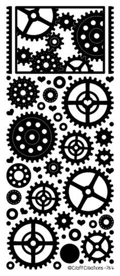 Gears & Cogs Peel Offs - SKW Craft Creations