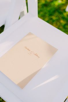 Ceremony Programmes | Wedding stationary | Lebanese Wedding Athenian Riviera | Elegant Wedding | Luxury Weddings | Greek Island Weddings | Destination Wedding