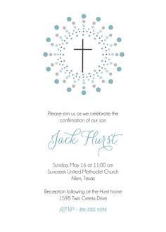Confirmation invitation. First Communion por brownpaperstudios