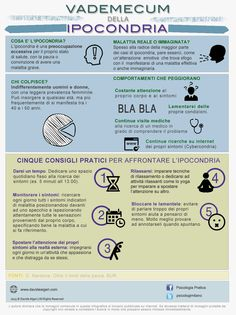 INFOGRAFICA: Vademecum dell'ipocondria Cosa è l'ipocondria? Chi colpisce? 5 Consigli pratici per iniziare ad affrontarla. #infografica #ipocondria #pauradellemalattie How To Stay Healthy, Healthy Life, Italian Language, Reflexology, Problem Solving, Self Help, Counseling, Einstein, Psychology