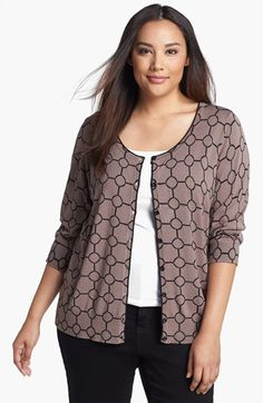 Sejour Print Cardigan (Plus Size) available at #Nordstrom