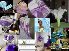 Princess and the frog theme Bridal Shower : PANTONE WEDDING Styleboard : The Dessy Group