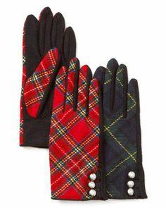 Lauren Ralph Lauren Tartan Military Tech Gloves