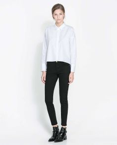 Love the Zara FIVE-POCKET TROUSERS on Wantering | $36 | sale price | Boxing Week for Her | womens black trousers | womens fashion | womens style | wantering http://www.wantering.com/womens-clothing-item/five-pocket-trousers/ad7p7/