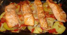 Одно из самых вкусных рыбных блюд, которое я пробовала — Лосось запечённый с картофелем | Готовим вкусно!