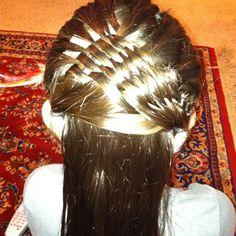 Weave braid Weave Braid, Braids With Weave, Basket Braid, Dreadlocks, Hair Styles, Beauty, Hair Plait Styles, Hair Looks, Haircut Styles