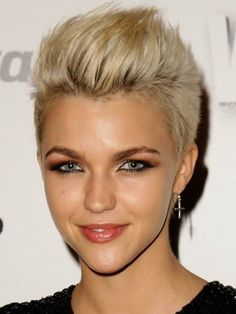 The trick to pulling off very short hair is keep the shape feminine. Top=cute. Sides=too short. I ask for texturing and avoid the shaved look.