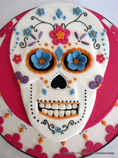 Day of the Dead birthday cake - by chefsam @ CakesDecor.com - cake decorating website