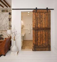 sweet home style. nice :) sweet home style. nice :) sweet home style. Bathroom Barn Door, Downstairs Bathroom, Wooden Bathroom, Bathroom Closet, Pallet Bathroom, Office Bathroom, Bedroom Office, Washroom, Bathroom Stall