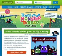 Teach Your Monster to Read teaches kids to read for FREE Learning Sites, Fun Learning, Teaching Kids, Homeschool Apps, Homeschooling, Reading Help, Early Reading, Preschool Kindergarten, Phonics