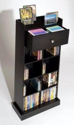 150 CD/DVD storage from Atlantic with shelves, drawer and upper rack
