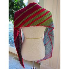 Fibonacci's Biased is a lightweight wrap or scarf in the shape of a parallelogram. It uses the Fibonacci Sequence in both ascending and descending order to achieve the striping. The wrap is worked on the bias, so the striping is diagonal. The wrap is 75 inches from tip to tip and 9.25 inches in width (not blocked). The following stitches were used: chain, single crochet, half double crochet, half double crochet 2 together, half double crochet 3 together, slip stitch. Special stitch…
