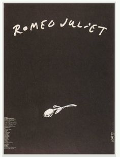 I saved this image because although it is a plain and simple design it manages to convey a story of sadness Graphic Design Art, Book Design, Cover Design, William Shakespeare, Story Inspiration, Character Inspiration, Romeo And Juliet Poster, Ballet Posters, Sadness