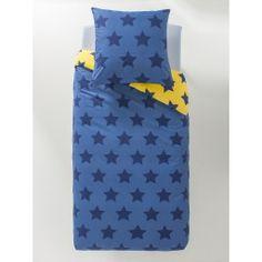 Housse de couette Stars yellow - Imprimé bleu - Nos sélections - Obaïbi    Okaïdi c5b824ce6e22