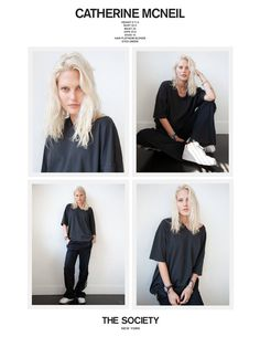 The Society F/W 2019 Polaroids/Portraits (Polaroids/Digitals) Model Polaroids, Catherine Mcneil, Perfect Model, Model Look, Industrial Style, That Look, Ruffle Blouse, Digital, Long Sleeve