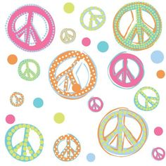RoomMates RMK1437SCS Glitter Peace Signs Peel & Stick Wall Decals $10.97