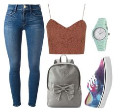 """""""IDK But Yeah"""" by marsophie ❤ liked on Polyvore featuring Topshop, Frame Denim, Vans, Candie's and Clyda"""