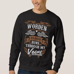 WORDEN Blood Runs Through My Veius Sweatshirt - Xmas ChristmasEve Christmas Eve Christmas merry xmas family kids gifts holidays Santa