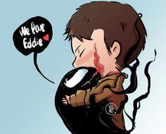 Baby Eddie and baby Venom ❤️🖤❤️🖤❤️ Venom Spiderman, Marvel Venom, Marvel Avengers, Infinity War, Eddie Brock Venom, Venom 2018, Venom Art, Venom Comics, Comics Story