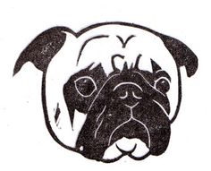 probably the best pug stamp/stencil i have seen.