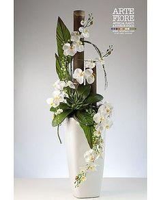 Image result for composizioni di fiori finti in vaso