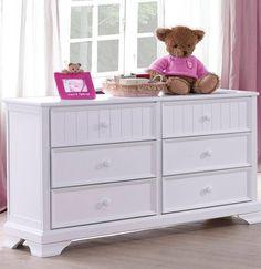 Better Homes and Gardens Kids Sebring 6-Drawer Dresser, White
