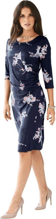 Lady Jersey-Kleid mit kleiner Raffung in der Taille ab 78,99€. Kleid aus bequemer Jersey-Qualität, Polyester, Elasthan, Figurumschmeichelnde Form bei OTTO