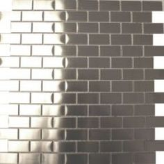 Brick Shaped Metal Tiles from Walls and Floors