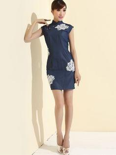 Gorgeous mandarin collar dress