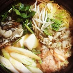 Japanese Hot Pot _ NABE season has come!  鍋の季節がやって来ましたね〜!#oysters #veggies#hotpot #thejapanesecuisine #healthy#japanesefood #nutrition #downtoearthfs #winter #鍋 #牡蠣 #野菜 #冬 #downtoearthfs