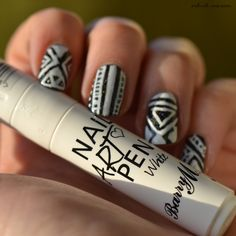 COPYCAT! You could do this with your average white polish and a sharpie. Or any color and a white pen!
