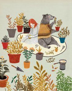 "illustrated by ""Liekeland"" seen on vlinspiratie.blogspot.com #illustration #freedownload"