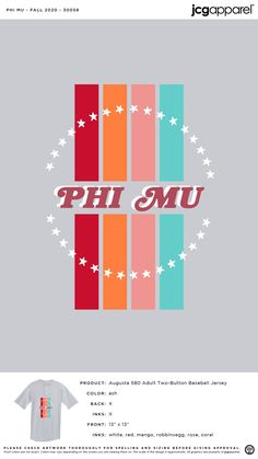 Phi Mu Fall Shirt | Sorority Fall Shirt | Greek Fall Shirt #phimu #pm #Fall #Shirt #stars #fun #design