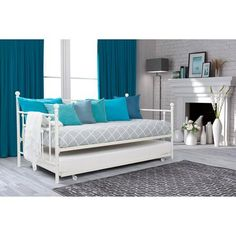 DHP Manila Twin Daybed and Trundle, White - Walmart.com