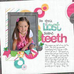 TOOTH LOST TITLE Paper Piecing Scrapbook Border Scrapbook Creative 1st Kids Boy