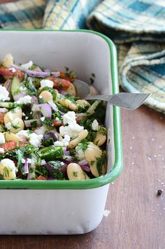 Greek butter bean salad