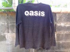 Oasis-T-Shirt-Vintage-90s-Alternative-Rock-britpop-band-tour-Size-L-Blur-Suede