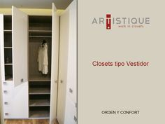 Foto de un closet Blanco alto brillo que instalamos en la Ciudad de México...! Creamos espacios confortables y ordenados para nuestros clientes...!